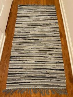 100% Cotton Chindi Rag Rug Floor Mat Recycled Carpet Woven R
