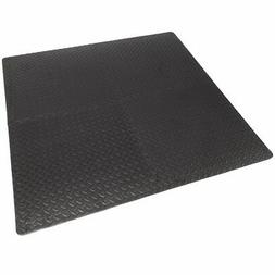 16sqft Floor Mat Interlocking Puzzle Rubber Foam Gym Fitness