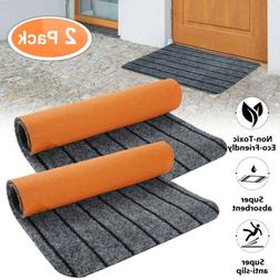 2-Pack Door Floor Mat Indoor Outdoor Rug Entryway Welcome Ma