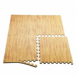 24 Sq Ft Interlocking EVA Foam Floor Mat Puzzle Tiles Wood G