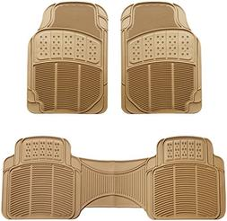 3 piece car floor mat beige