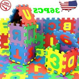 36 Pcs Colorful Alphabet Numbers EVA Floor Play Mat Baby Roo