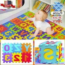 Cyber Monday❤Colorful Alphabet Numbers EVA Floor Play Mat
