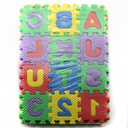 Kuulee 36 Pieces Child Cartoon Letters Numbers Foam <font><b