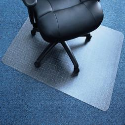 """36"""" x 48"""" Chair PVC Floor Mat Home Office Studded Back With"""