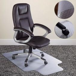 """36"""" x 48"""" Home Office Chair PVC Floor Mat Studded Back with"""