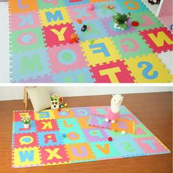 36Pc Baby Room Alphabet Numbers Soft Floor Play Mat ABC Foam