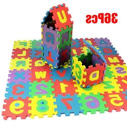 36pcs/Set Children Alphabet Letters Numerals Puzzle Colourfu