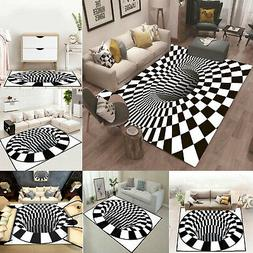 3D Bottomless Hole Area Rug Carpet Soft Anti-Skid Rug Home L