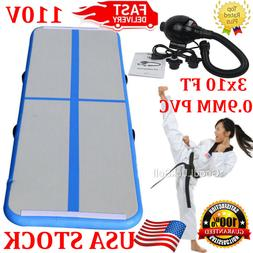 3x10FT Air Track Tumbling AirTrack Inflatable Floor Home Gym