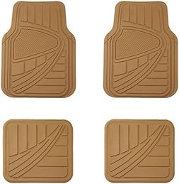 AmazonBasics 4 Piece Car Floor Mat, Beige