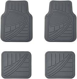 AmazonBasics 4 Piece Car Floor Mat, Gray