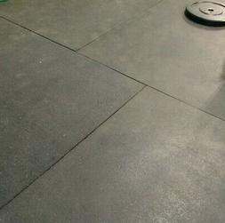 """4 x 6' 3/4"""" SMOOTH RUBBER FLOOR GYM MAT COMMERCIAL INDUSTRIA"""