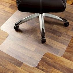 """Marvelux 47"""" x 53"""" Polycarbonate  Lipped Chair Mat for Hard"""