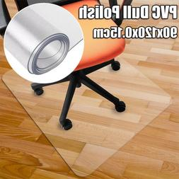 48*36 Square Wood Hard Floor Protector Mat Office Chair PVC