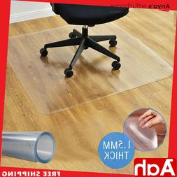"""48"""" x 48"""" Large Square PVC Chair Floor Mat Home Office Prote"""