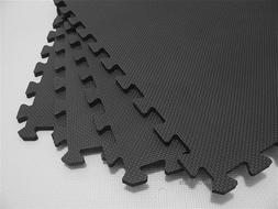 """We Sell Mats 240 Square Feet  Charcoal Gray 2' x 2' x 3/8"""" A"""