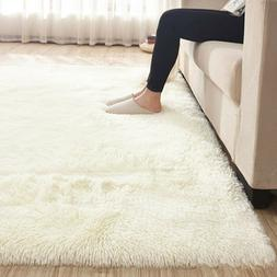 67x47' Fluffy Rugs Anti-Skid Shaggy Area Rug Dining Room Bed