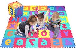 Click N' Play, Alphabet and Numbers Foam Puzzle Play Mat, 36