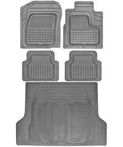 Motor Trend BC210-B2 Grey Performance Plus Rubber Car Floor