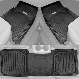 Motor Trend OF-933-BK Deep Dish Rubber Floor Mats All-Climat