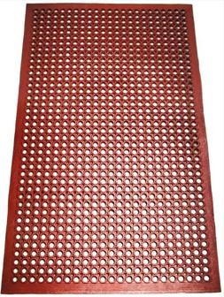New Star 1 pc Heavy Duty Red 36x60 inch Restaurant / Bar Gre