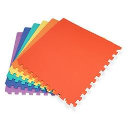 "We Sell Mats 24"" x 24"" x 3/8"" 144 Sq Ft Multi-Color Interloc"