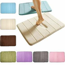 Absorbent Non-slip Bath Mats Memory Foam Bathroom Floor Show