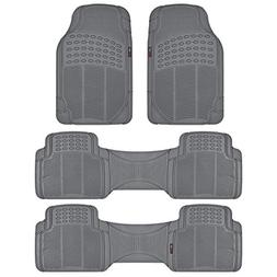 All Weather Gray Diamond Rubber Ridged Odorless Truck SUV Va