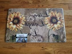 Anti Fatigue  Comfort Kitchen Floor Mat Rug 18x30 Sunflowers