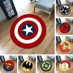 Anti-slip Rugs Round Soft Carpet Superman Superhero <font><b