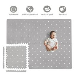 Baby Play Mat with Fence - Extra Large 4FT x 6FT Foam Puzzle