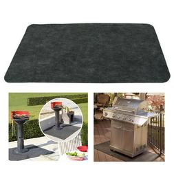 BBQ Gas Grill Mat Pad Deck Floor Protection Fire Resistant O