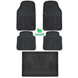BDK BLACK 5 Piece Set Premium Heavy Duty Odorless Mats for T