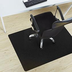 Office Marshal® Black Polycarbonate Office Chair Mat - 36""