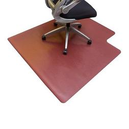 "Resilia Burgundy Office Chair Mat 45""x 53"" with Lip Hard Flo"