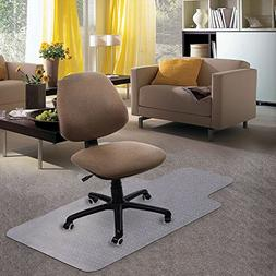 "Kuyal Carpet Chair Mat, 48"" x 36"" PVC Home Office Desk Chair"