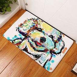 Cartoon Style Lovely Dog Painting Dogs Print Carpets Anti-sl