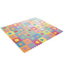 Children Kids Foam Floor Mat 56 Squares 6 x 6 Inches Shapes