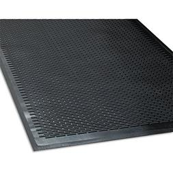 Clean Step Outdoor Rubber Scraper Mat, Polypropylene, 48 x 7