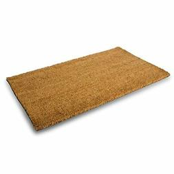 MPLUS Pure Coco Coir Doormat with Heavy-Duty PVC Backing - N