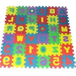 Colorful Alphabet Numbers Floor Play Mat Baby Room Foam Puzz