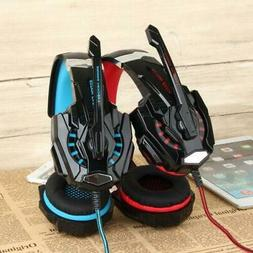 EACH G9000 3.5mm Gaming Stereo Headset USB LED Light Headpho