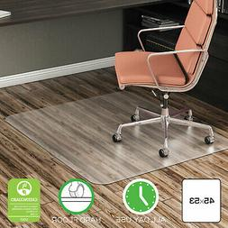 EconoMat Anytime Use Chair Mat for Hard Floor, 45 x 53, Clea
