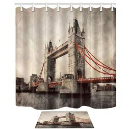 European Building Decor London Tower Bridge in Vintage Milde