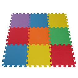 Toydaloo EVA Foam Play Mat Blank 9 pieces Non-toxic exercise