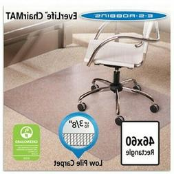 Chair Mat for Carpet- Low Pile, 46 by 60-Inch Rectangle, Cle