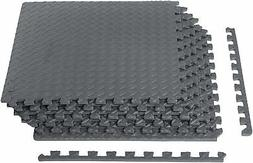 AmazonBasics Exercise Mat with EVA Foam Interlocking Tiles G
