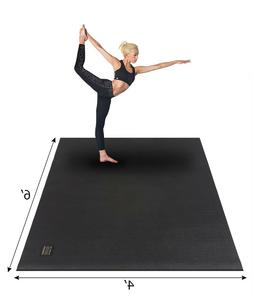 Extra Large Yoga Mat 6x4x7mm Extra Thick Exercise Floor Mat