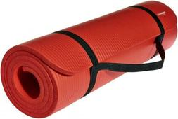 AmazonBasics 1/2-Inch Extra Thick Exercise Mat with Carrying